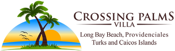 Crossing Palms Villa – Luxurious Mediterranean Beach Front Villa on Long Bay Beach Logo