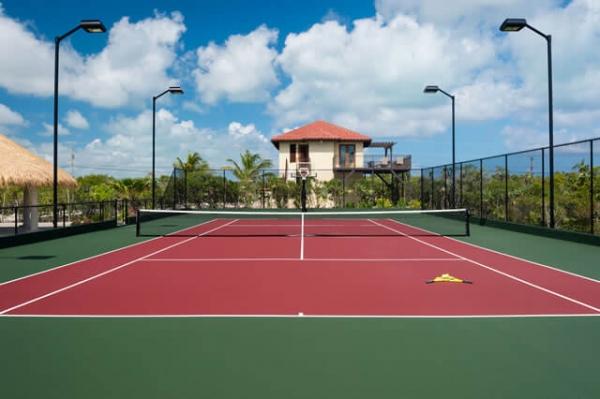 Tennis Court at the Villa