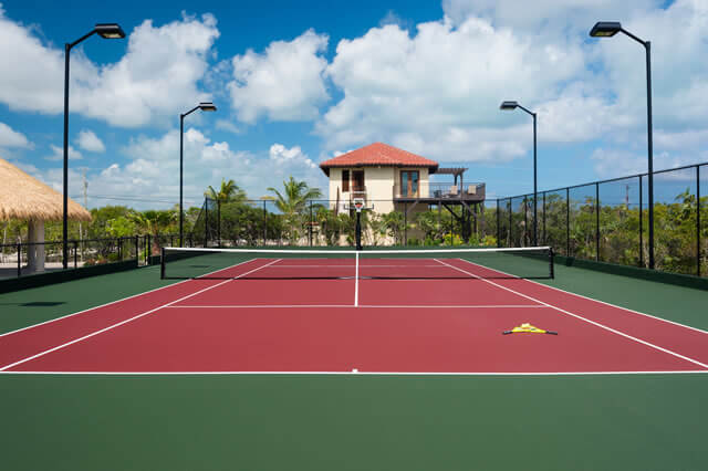 Tennis Court at the Villa