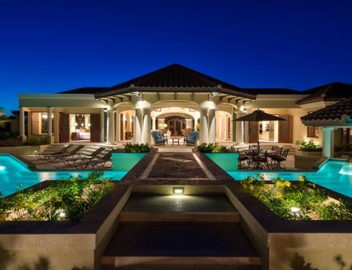 Night Shots of Crossing Palms Villa